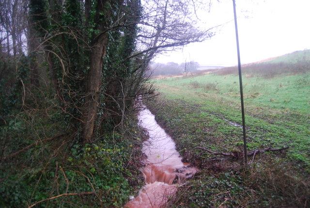 A red stream, Aller Farm