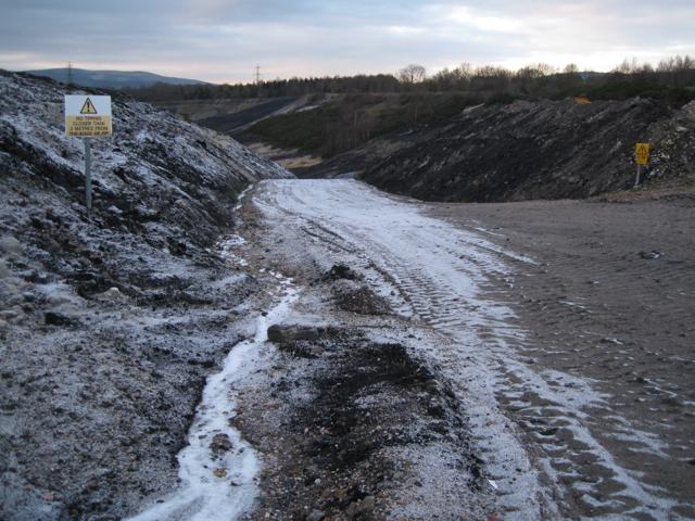Track out of Newbridge ball clay quarry (2)