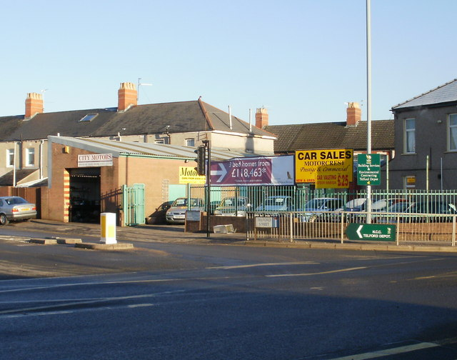 Motorcrest and City Motors, Telford Street, Newport