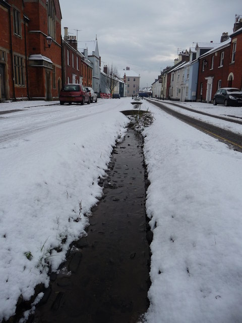 Tiverton : Castle Street & Leat