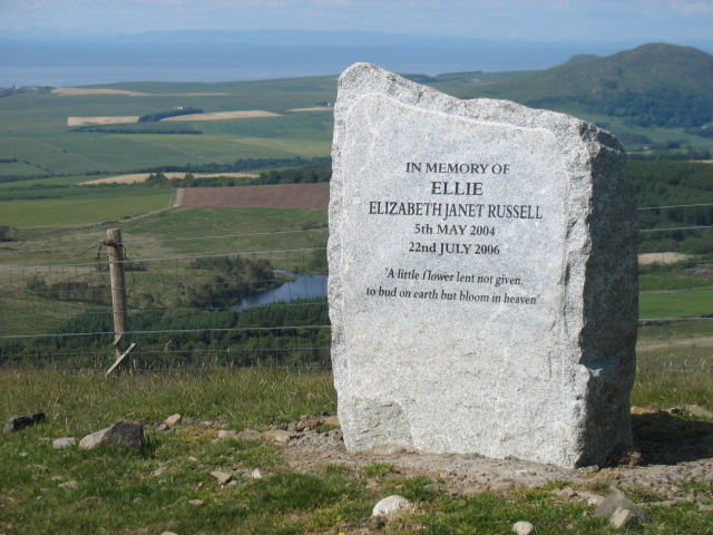 Memorial stone on Carlock Hill