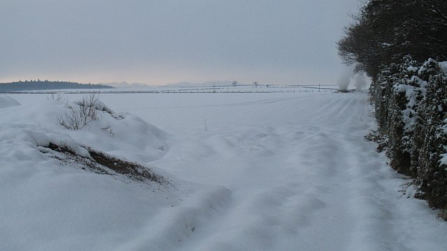 Snow covered fields, Hodges
