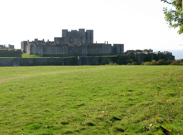 Dover castle from the A258