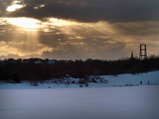 A wintry sky over Wath upon Dearne