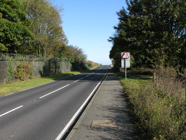 Looking NE along the A258