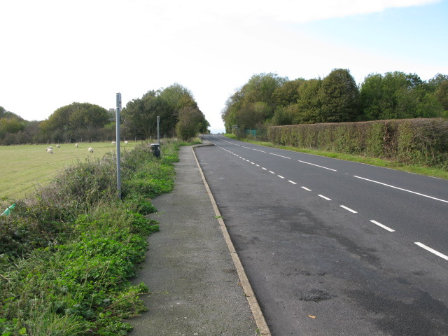 Looking SW along the A258