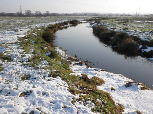 Drainage channel, on Exminster Marshes