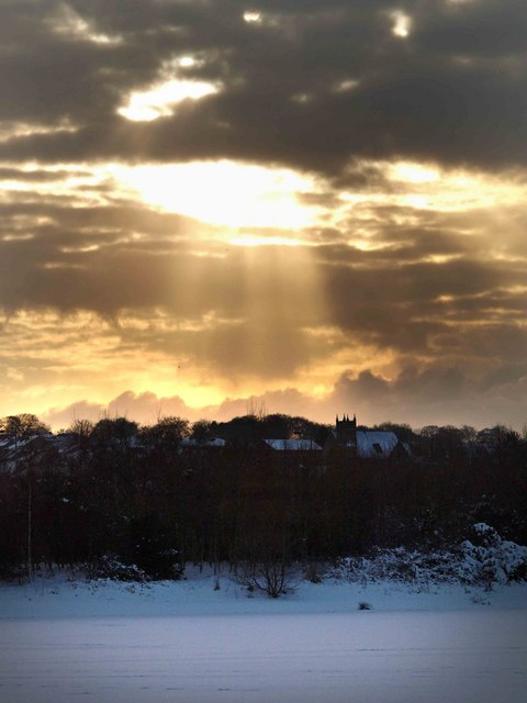 A wintry sky over Wath upon Dearne #2