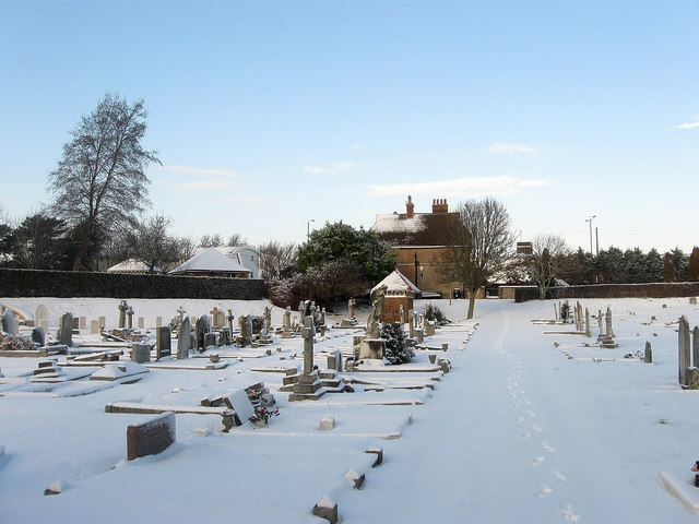 Hove Cemetery in the Snow