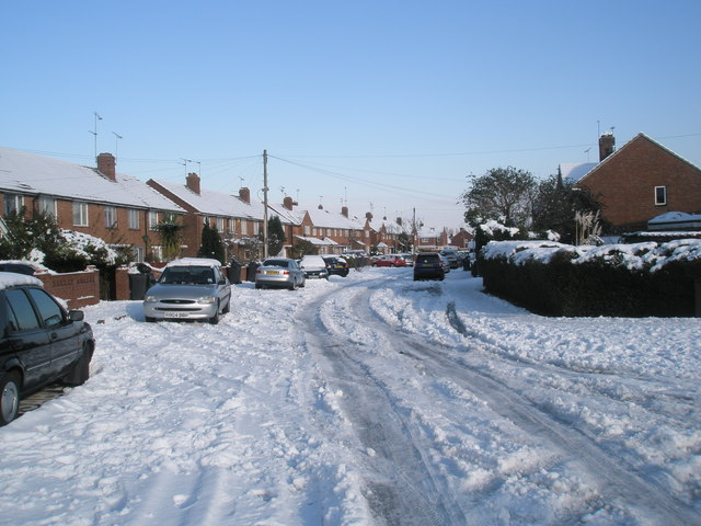 Heavy snow in Plaitford Grove