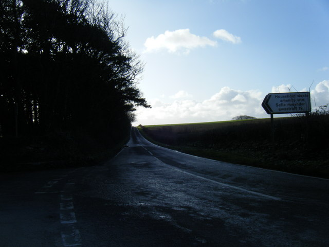 Minor road near Household Waste Site.