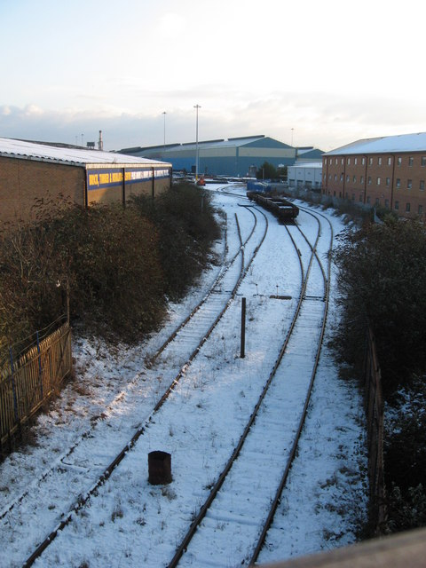 Sidings to the steelworks
