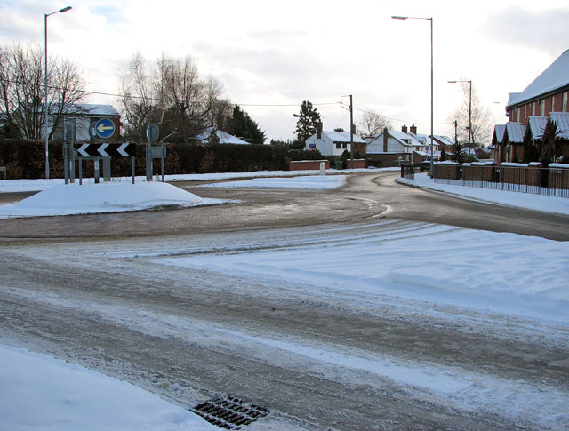 Roundabout where Devlin Drive meets The Street