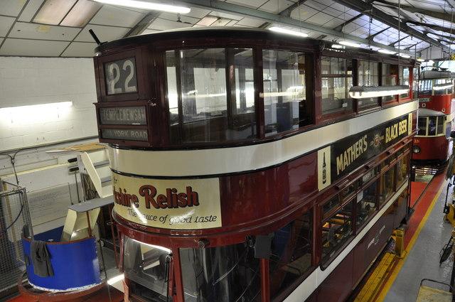 Tram 22 in the Tram Shed