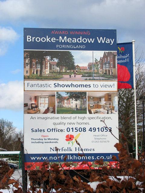 Brooke-Meadow Way (sign)