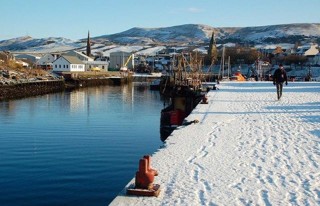 Snowy Girvan Harbour
