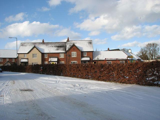 Snow on Devlin Drive