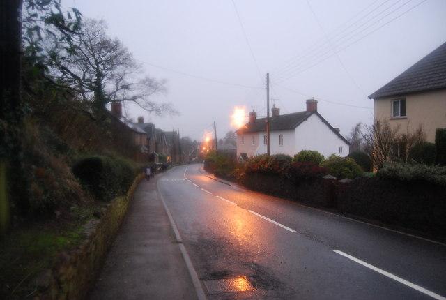 A358, Williton as dusk falls