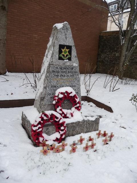 Tiverton : Burma Star War Memorial
