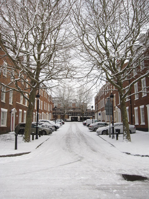 Stanley Place in the snow