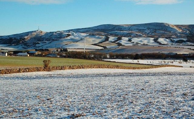 A Sprinkling of Snow at Girvan