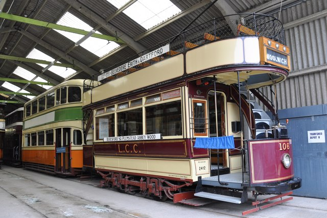 Tram 106 in the Tram Shed