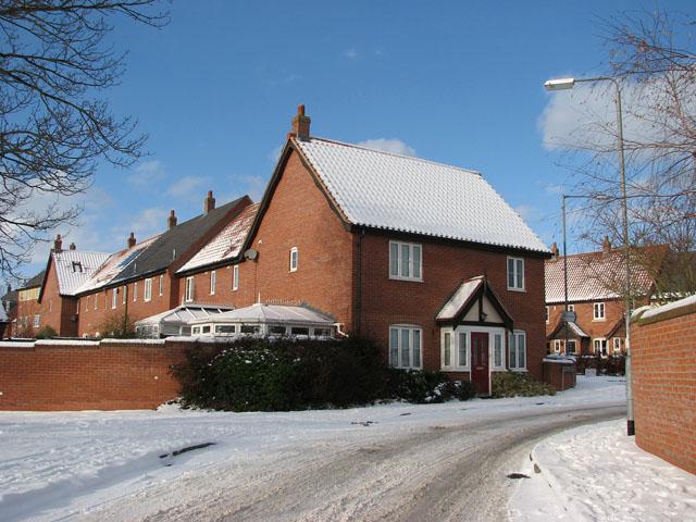Houses in Devlin Drive viewed from Blackthorn Way
