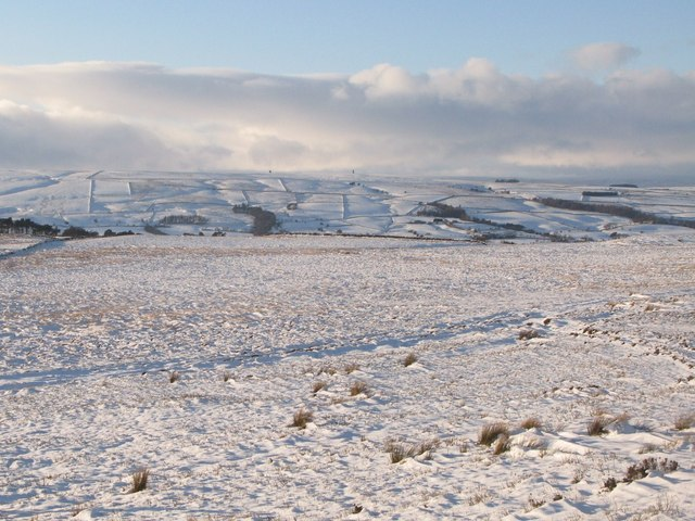 Snow covered moorland below Hill 401 (2)