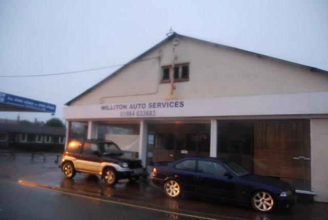 Williton Auto Services in the rain