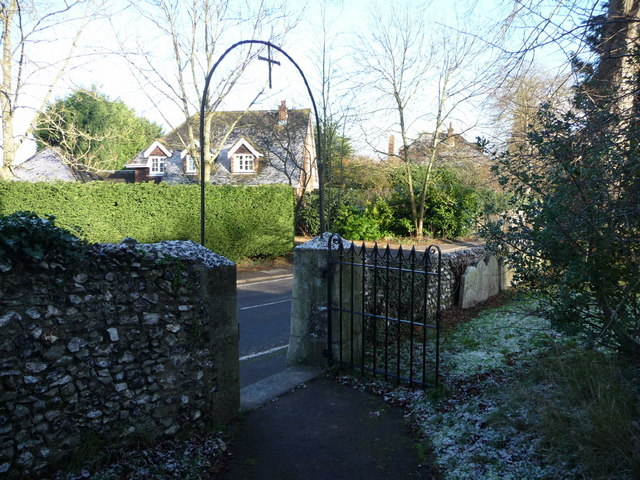 Entrance to Graveyard, St John the Evangelist, Merrow