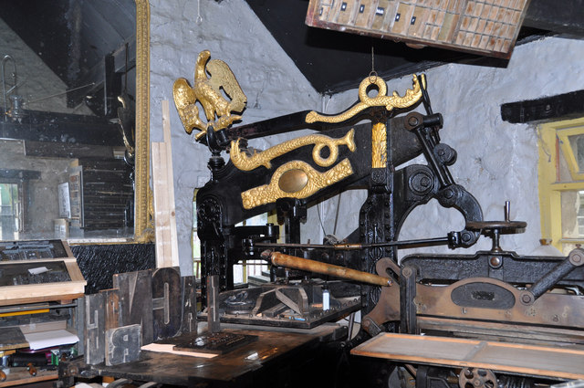 Inside the printshop at Crich Tramway Museum