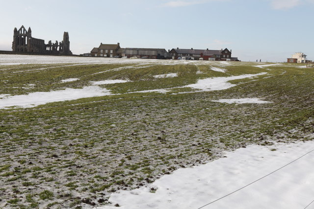 View of Whitby Abbey and Abbey Farm