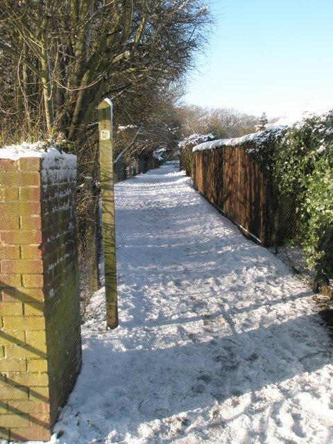 Footpath  from Park House Farm Way to Bushy Lease