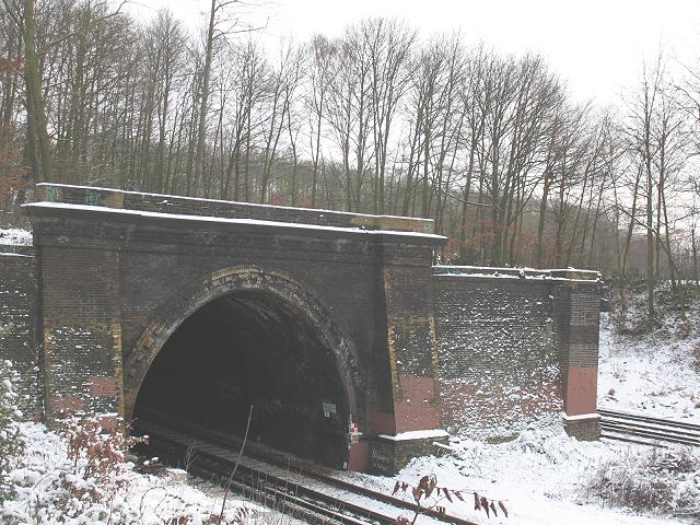 Chislehurst East Tunnel: northern portal
