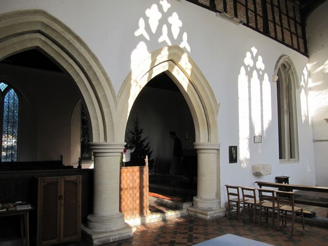 Arches in the chapel