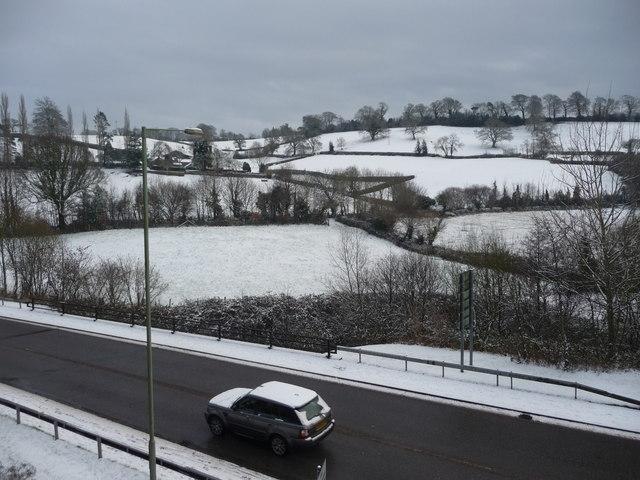 Tiverton : Great Western Way & Snowy Hillsides