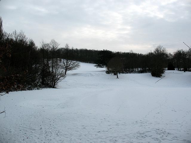 Sundridge Park golf course in the snow