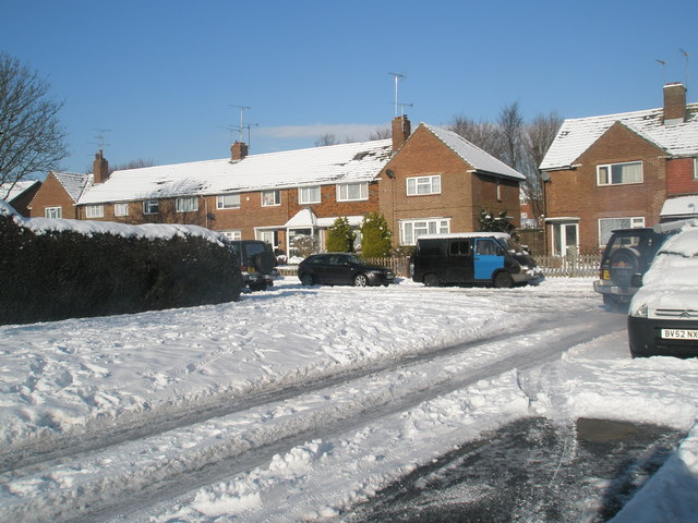 Looking from Shawford Grove into Quarely Road