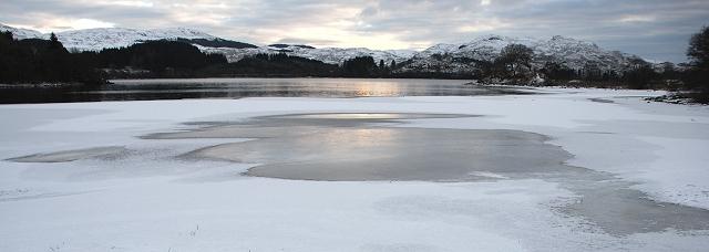 Loch Awe under ice