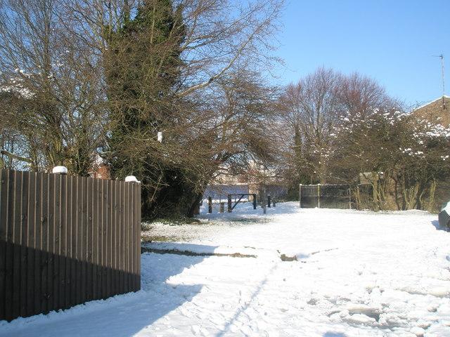 A snowy Whaddon Court