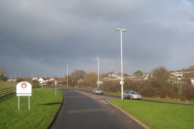 A383 Teignmouth Road approaching Ware Cross, Kingsteignton