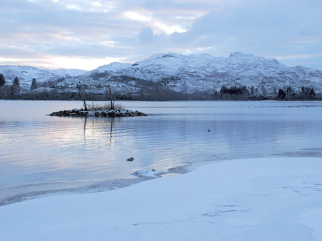 Crannog on Loch Awe