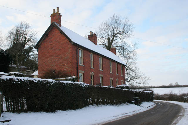 Brick cottages on Branston Lane