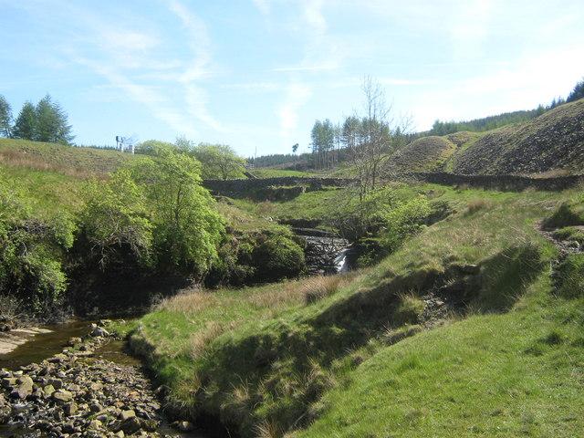 Waterfall near Stone House in Cumbria