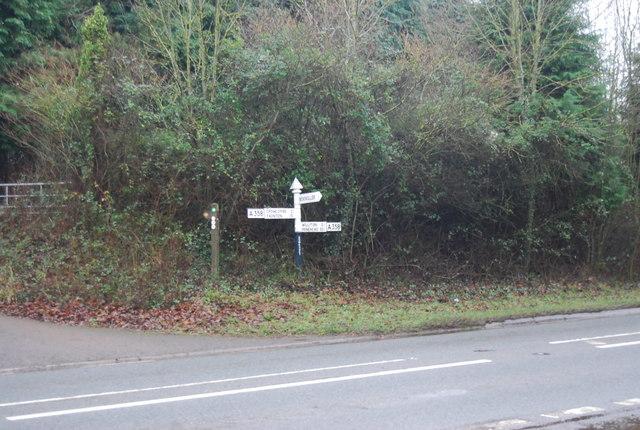 Road sign, Bicknoller turn off
