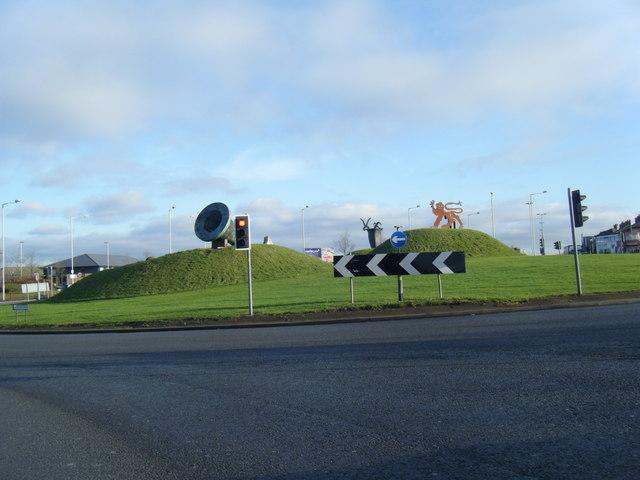 Birmingham Road, Castlegate roundabout.