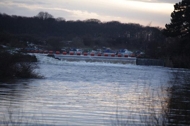 Weir at Linton Locks