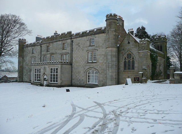 Thurnham Hall in the snow