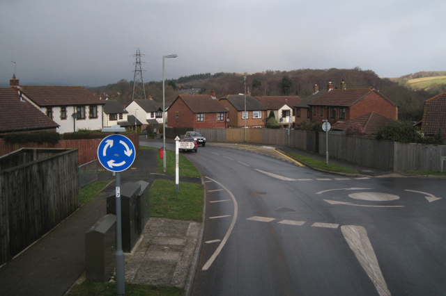 Approaching Brook Way from Rydon Road, Kingsteignton