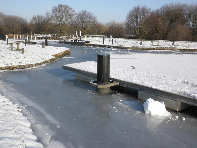 Solid ice at Double locks